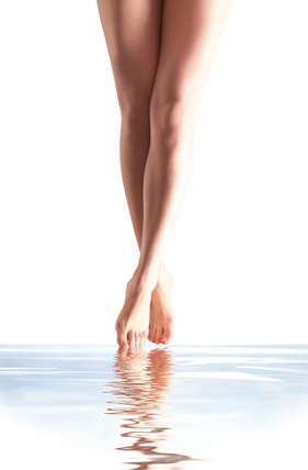 beautiful leg in the water